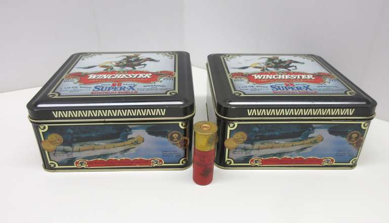 (2) 12-Gauge Super X 125 Year Anniversary Tin Boxes with 25 Rounds in Each