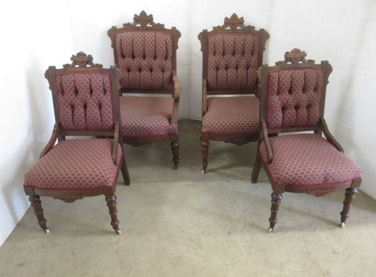 Set of (4) Parlor Chairs: Father, Mother, and 2- Children