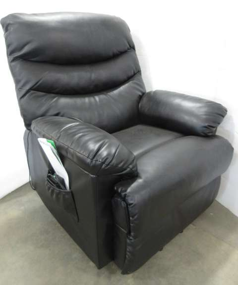 Handy Living Prolounger, Black Leather, Electric Powered Lift and Recliner