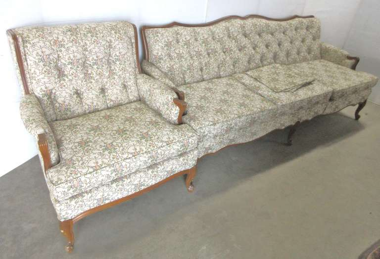 Older Floral Couch and Chair