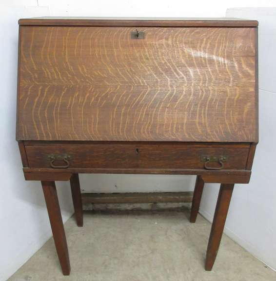 Antique Secretary Desk, Has Key