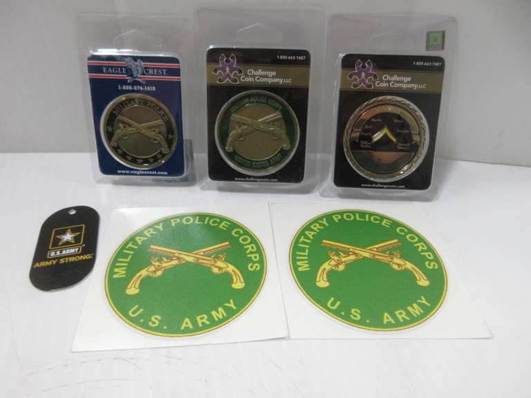 Albrecht Auctions | Army Challenge Coins, Include: Military Police