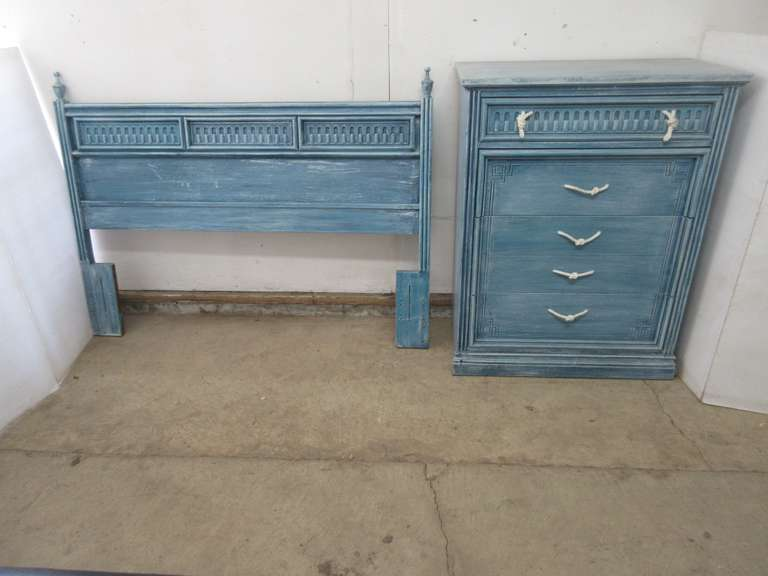 Four-Drawer Dresser and Matching Headboard