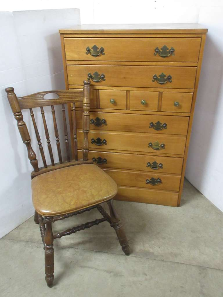 Tall Boy Dresser with Chair
