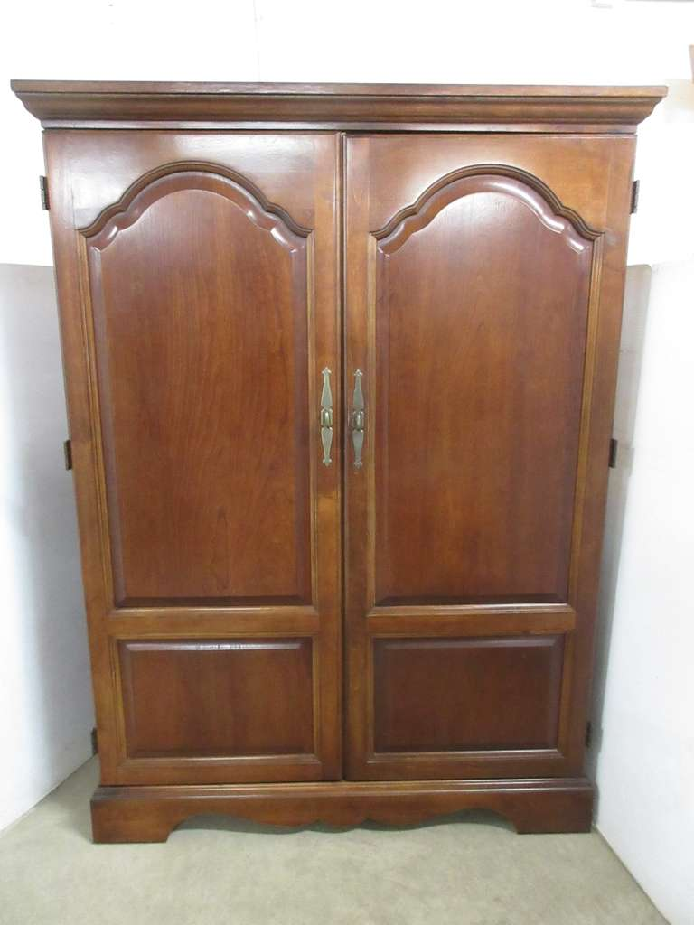 Solid Cherry Armoire Cabinet