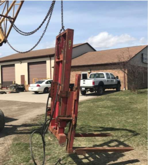 WIFO Two-Stage Forklift Mast, 3-Point Hitch, Category I