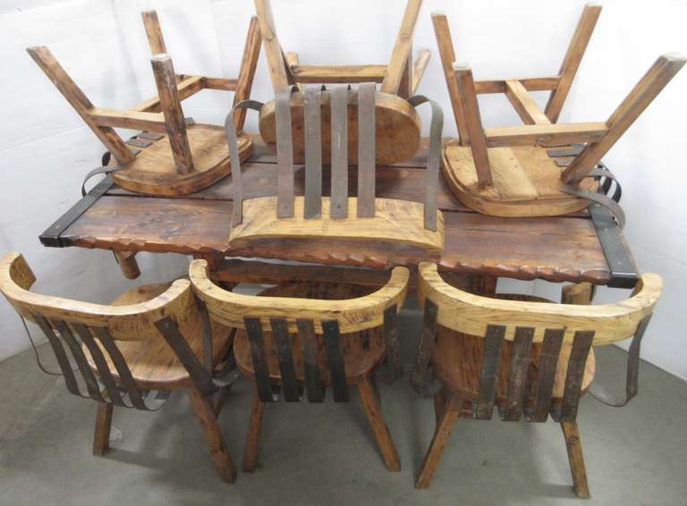 Rustic Kitchen Table and (6) Chairs