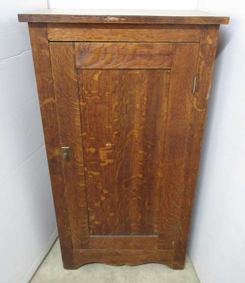Antique Oak Record Cabinet