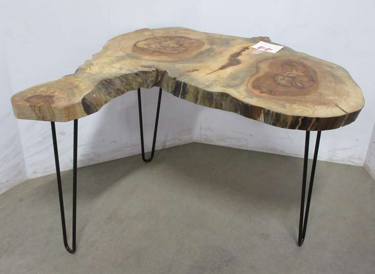 Two-Tree Maple Coffee Table with Live Edge