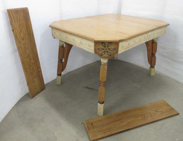 Older Solid Oak Table with (2) Leaves