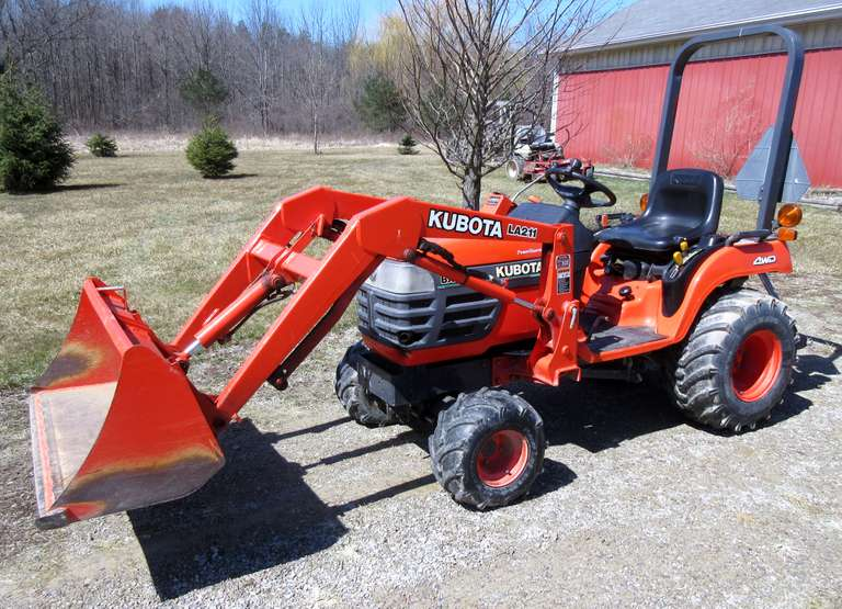 Kubota BX2200 4WD Tractor, (Less than 460 Hours), Power Steering, Comes with Loader and Trailer Hitch, Second Owner, Always Housed, Runs and Drives Excellent, Must be Paid for and Picked up No Later than Tuesday, April 16, NOTE:  Video loaded for this item!