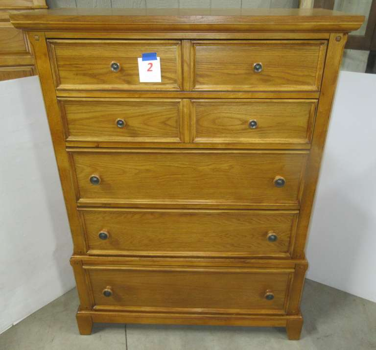 Dresser, Purchased at Art Sample Furniture in Saginaw, Matches Lot Nos. 1, 3, and 4