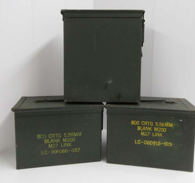 (3) Large GI Ammo Cans, Air and Water Tight