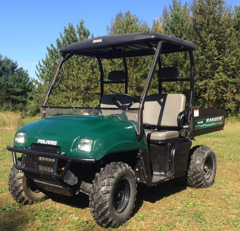 2004 Polaris Ranger 500 4x4, (Only 335 Hours), Includes Roof and Windshield, Great Condition for the Year, Runs and Drives Great, Clear Title