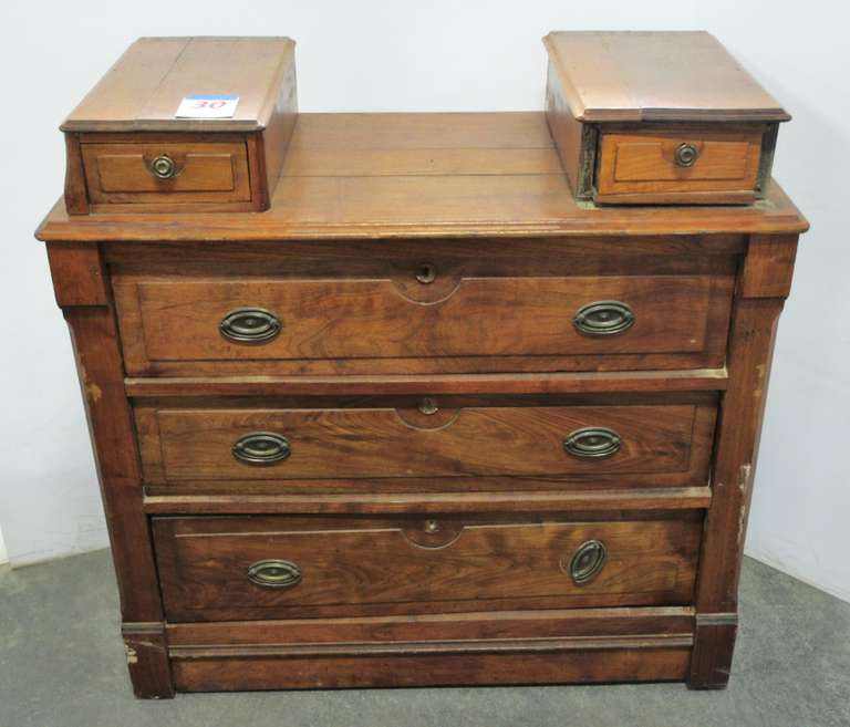 1875 Walnut Chest with Hanky Drawers