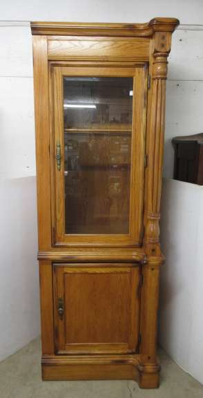 Kimball International 1335-201 Solid Wood Two-Door Display Cabinet