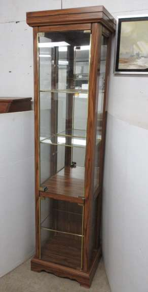 Woodgrain Curio Cabinet with Five Shelves