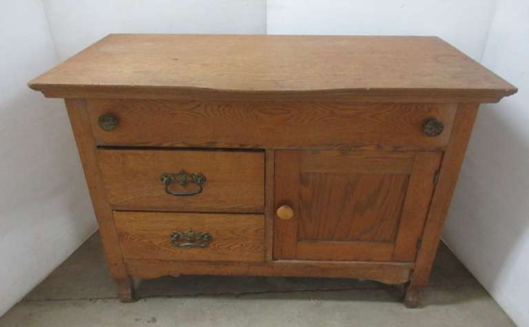Oak Commode, Light Shamber Suits
