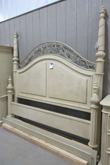 Stanley Furniture Headboard and Footboard with Rails, Matches Lot Nos. 2, 3, and 4