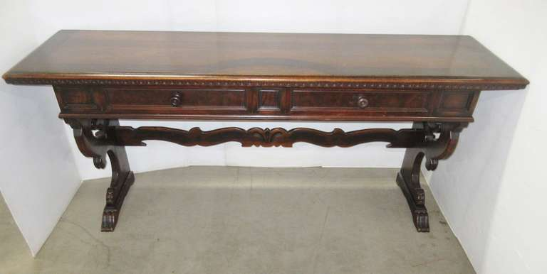 Antique Buffet Table, Berkey & Gay Furniture Co., Span-Umbrian