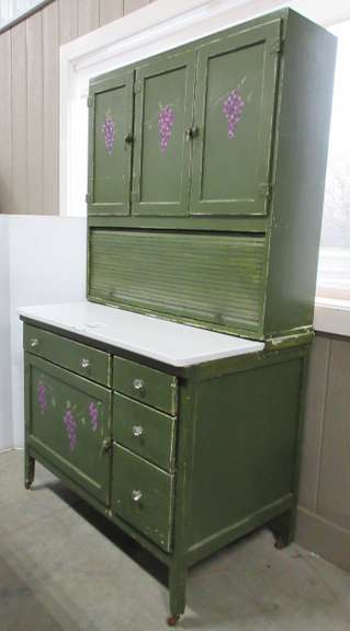 Showers Bros. Co. Hoosier Cabinet, Antiqued Painted Finish, Bloomington, IN