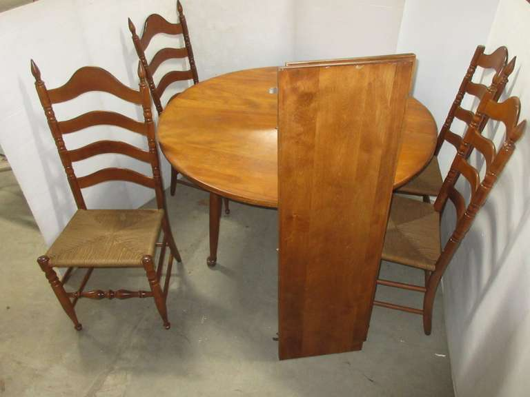 Cushman Colonial Wood Dinner Table and Chair Set, Made in VT