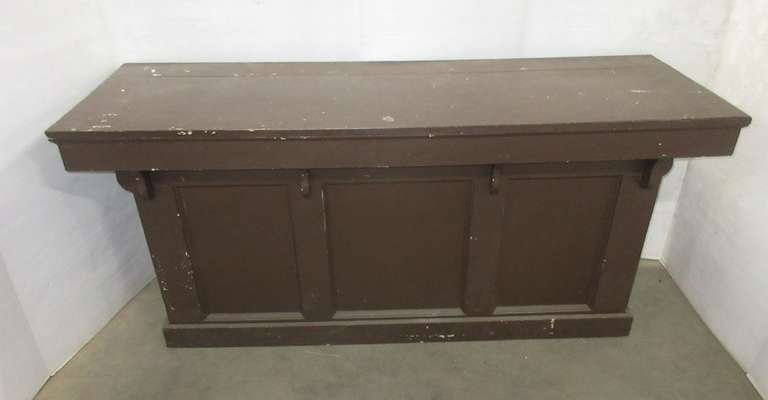 Primitive Wood Country Store Counter