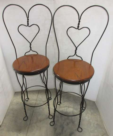 Pair of Soda Fountain Ice Cream Parlor Stools, Modern