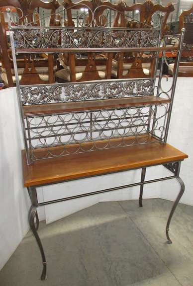 Two-Piece Ash Bakers Rack with Patented Cast Iron Legs, Holds 24 Wine Bottles, Top is Not Attached