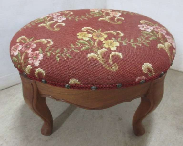Footstool, Signed, Made in 1960