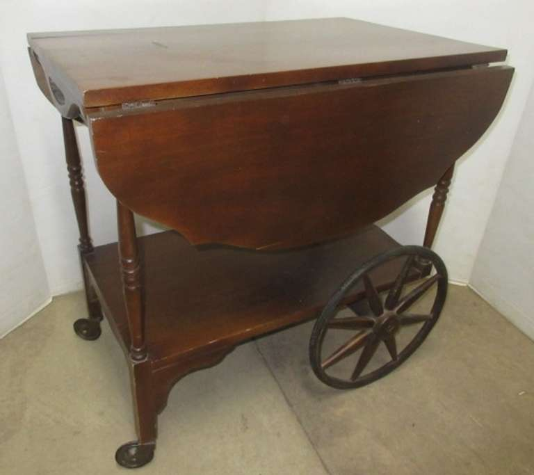 Older Wood Tea Cart