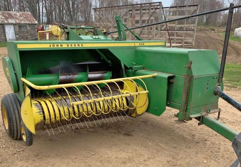 Albrecht Auctions | John Deere 336 Kick Baler, New Belts