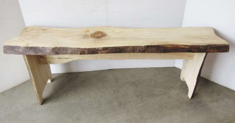 Spalding Red Maple Bench with a Live Edge