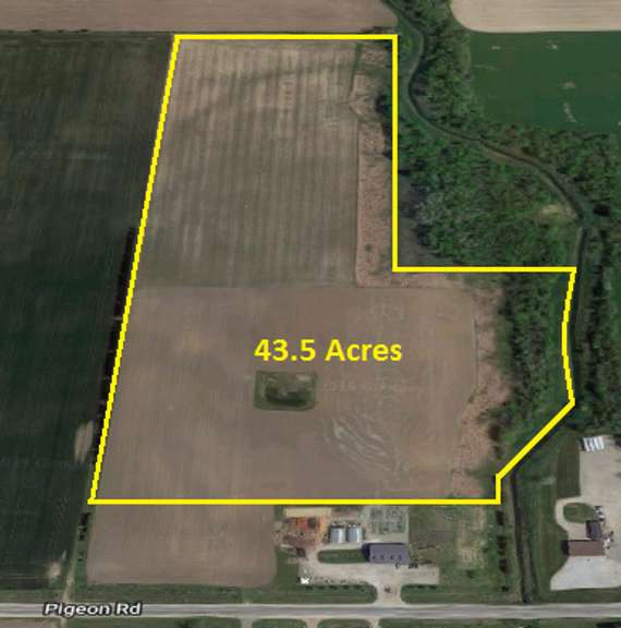 FEATURES:  43.5 acres +/- Vacant Tiled Farmland, approx. 42.17 ac. tillable, which includes 6.6 ac. CRP Land.