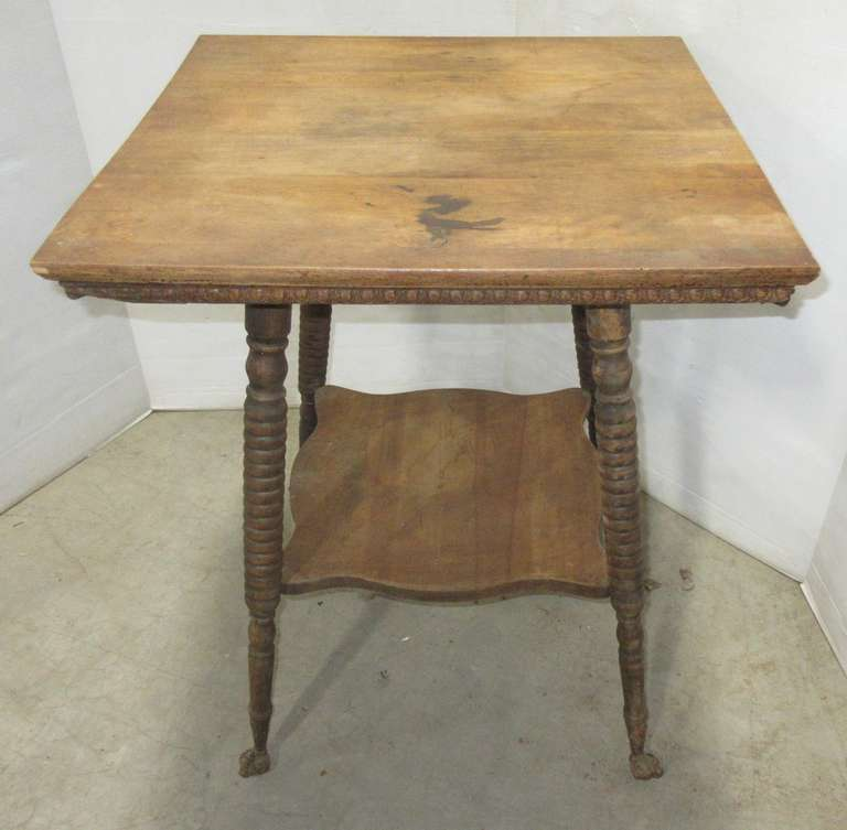 Antique Table, Has Ball and Claw Feet