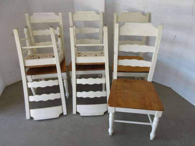 (6) Wood Dining Chairs