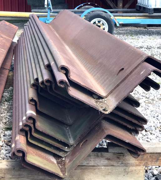 "SCZ-21 5/16 Thick Sheet Piling, Never Driven, Compatible with Items 81 and 83, Can be Welded Together to Make Longer, 30"" Wide, (4)- 11'L, (4)- 8' L, (7)- 13 1/2'L"