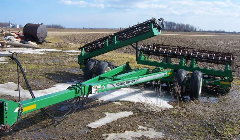Unverferth 1225 30' Double Basket Rolling Harrow, Leveling Bar, Like New Condition