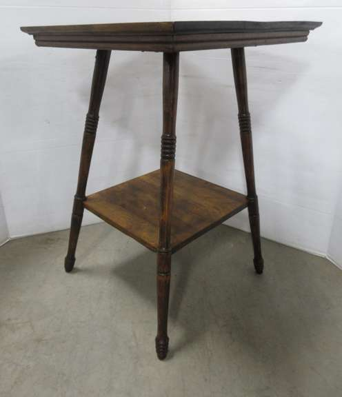 Lamp Table with Lower Shelf