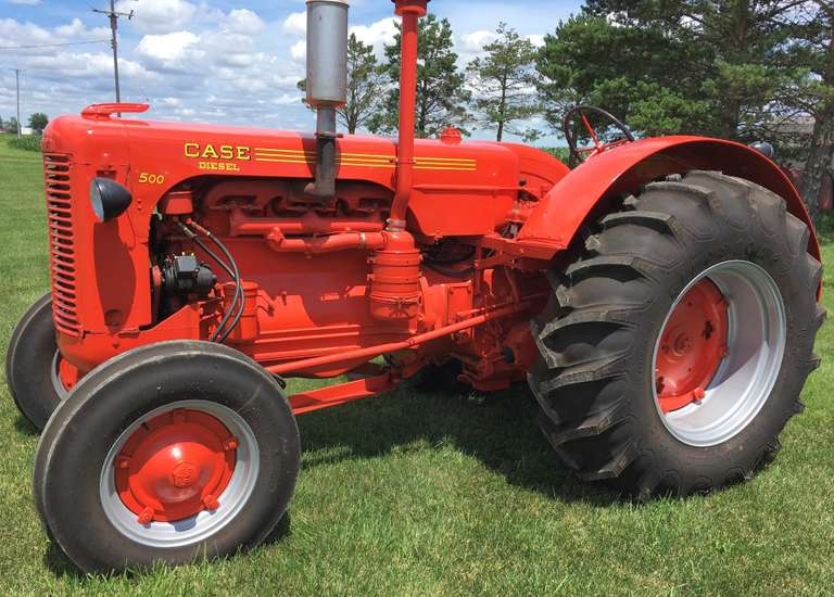 1954 Case 500 Show Tractor, 6 Cylinder Diesel, 61 HP, Totally Restored Show Tractor, New Sleeves and Pistons, Crank Polished, New Rods and Mains, Injector Pump and Nozzles Rebuilt, New Tires and Rims, New Paint