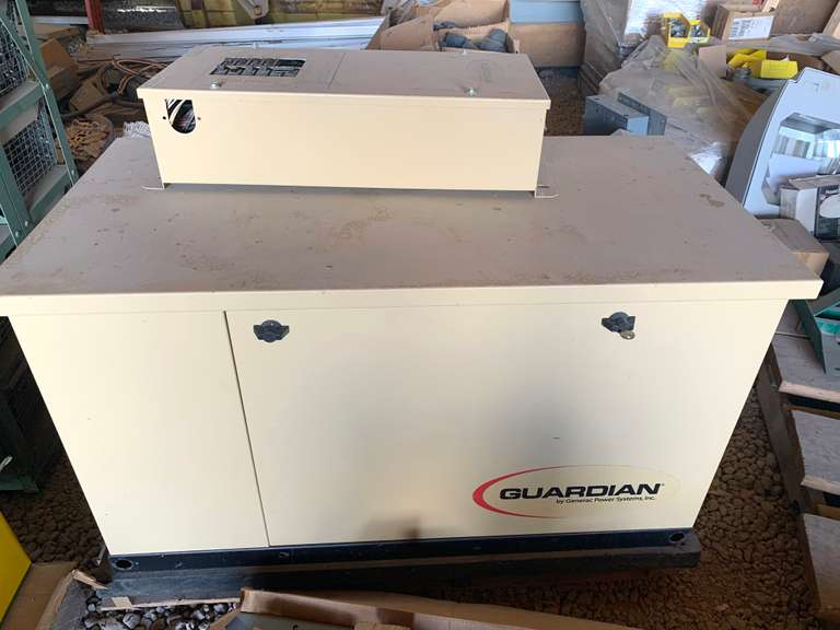 Generac Standby Generator System Model 0052420 120/240 V, 108/54 AMPS, 13 KW, Newer Engine with New Alternator, Shop Ran and Tested by Authorized Generac Dealer, Comes with 12- Circuit Transfer Switch, Breakers will be Included for Open Spaces