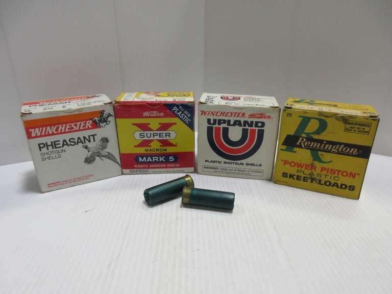 Albrecht Auctions | (4) Boxes of 12-Gauge Shotgun Shells