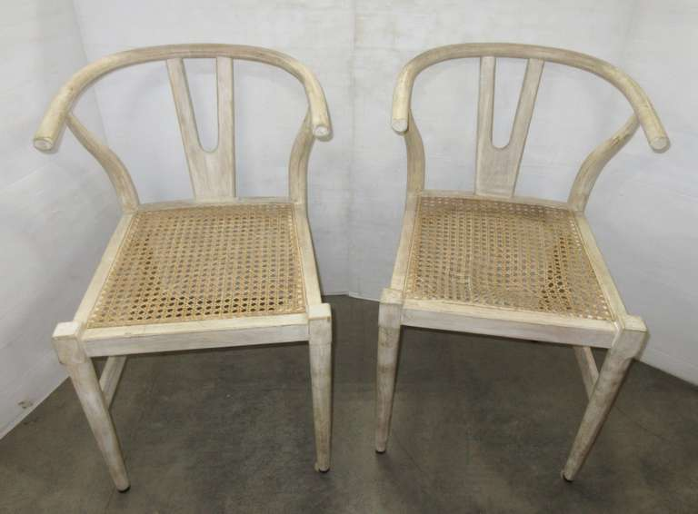(2) Antique Wicker Bottom Chairs