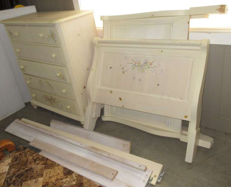 Twin Bed Frame, and Dresser