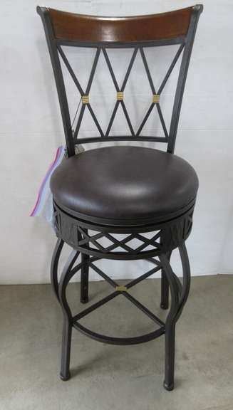 Bar/Counter Stool, Wood and Metal with Back Height Changeable Legs