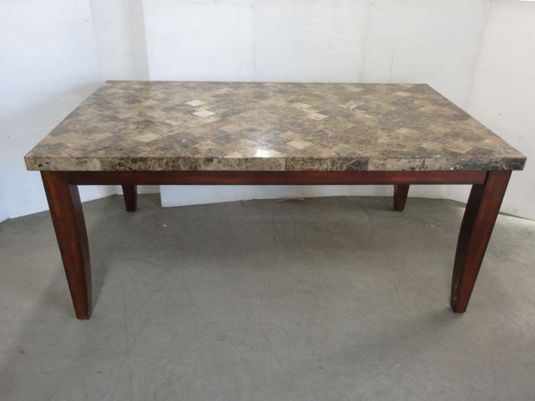 Old Granite Style Kitchen Table, Legs Can Come Off for Transport