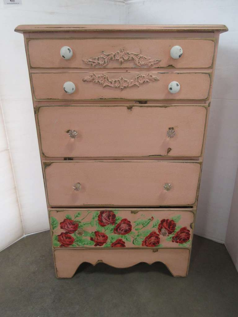 Pink and Roses Dresser