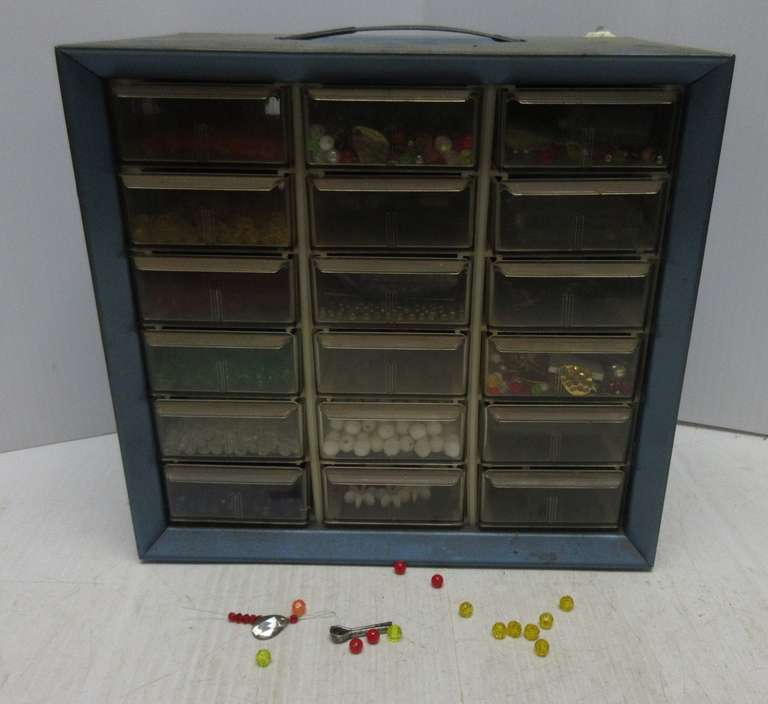 Albrecht Auctions | 18-Drawer Container Filled with Over