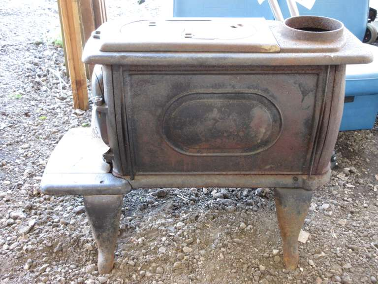Sears Wood Stove With Cooking Burner