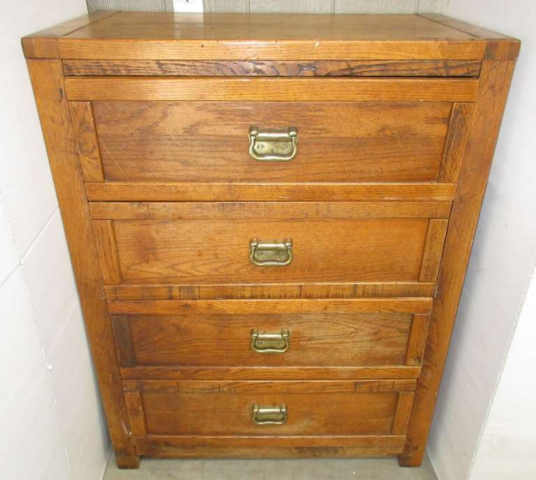 Four-Drawer Wooden Dresser